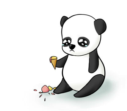 How To Draw Sad Panda